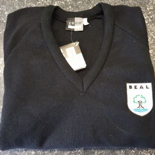 Beal Black V-Neck Jumper